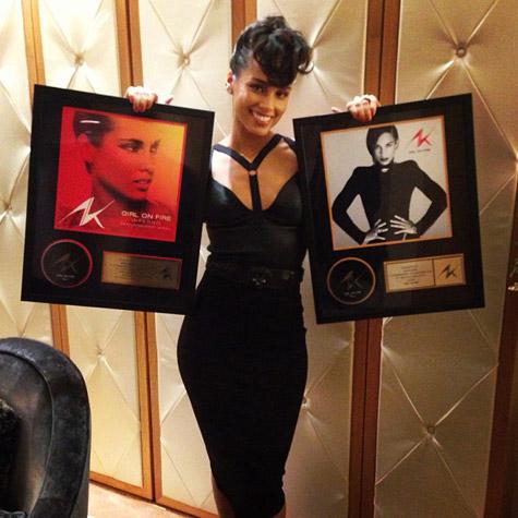 Platina voor Alicia Keys