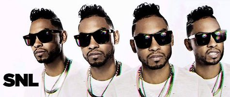 Miguel on-stage met Kendrick Lamar