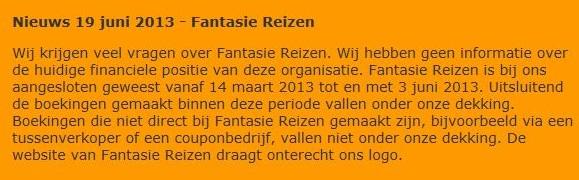 Reisbureau Fantasie Reizen verkoopt nepvakanties