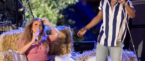 Mariah Carey treedt op tijdens 4th of July feest