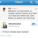 'Beliebers' kiezen Justin Bieber boven ouders