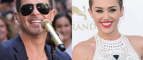 Miley Cyrus en Robin Thicke op MTV VMa's