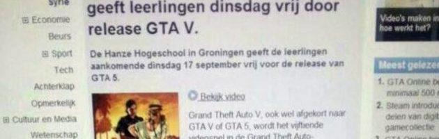 Nepbericht vrije dag op Hanzehogeschool voor GTA