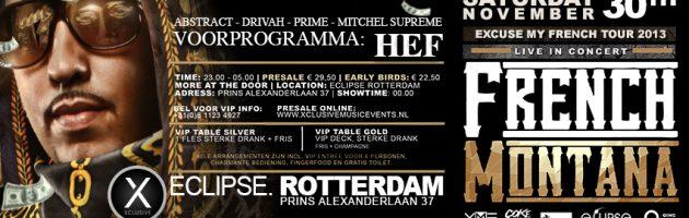 French Montana voor tour naar Rotterdam