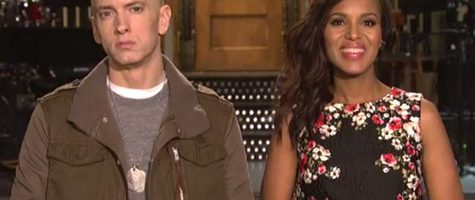 Eminem met Kerry Washington in SNL promo's