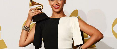Beyonce op het Grammy podium