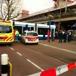 Vrouw gewond na aanrijding met tram