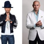Pitbull en Pharrell op Hollywood Walk Of Fame