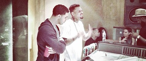 Drake en Chris Brown samen in de studio