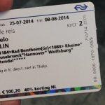 Meisje uit trein gezet om e-ticket