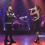 Ariana Grande en The Weeknd live bij SNL