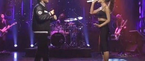Ariana Grande en The Weeknd live bij SNL