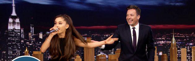 Ariana Grande doet Celine Dion na