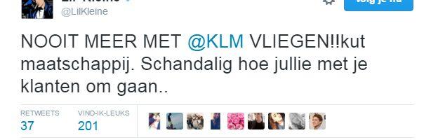 KLM vertrekt zonder Lil Kleine en dan wordt hij boos…