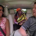 Michelle Obama doet Carpool Karaoke met James Corden