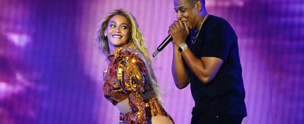 Beyonce en Jay-Z in de Arena