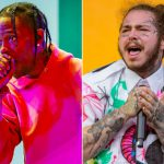 Travis Scott en Post Malone op podium VMAs 2018