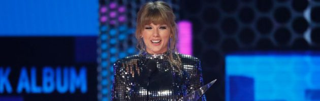Taylor Swift grote winnares American Music Awards 2018