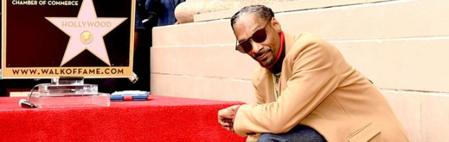 Onthulling Walk of Fame-ster voor Snoop Dogg
