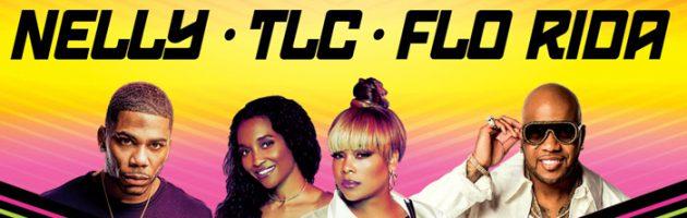 Nelly, TLC en Flo Rida samen op het podium