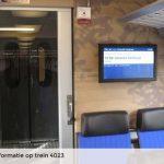 NS schotelt reclame voor in trein