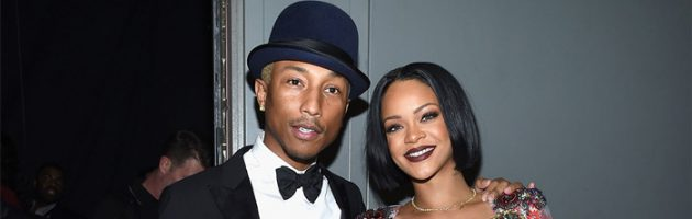 Rihanna in de studio met The Neptunes