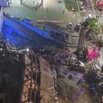 Tijdelijk 'Coronahotel' in China ingestort