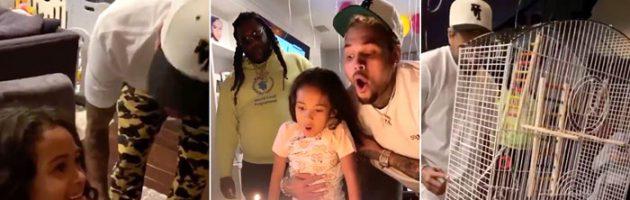 Chris Brown verrast dochter voor zesde verjaardag