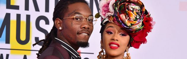 Offset feliciteert Cardi B via groot billboard